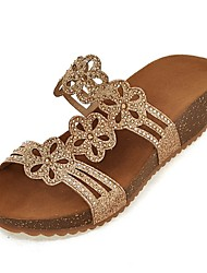 Women's Shoes Platform Gladiator / Slippers Sandals Outdoor / Dress / Casual Silver / Gold