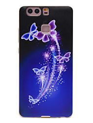 motif papillon creux tpu couleur Matériau du téléphone logiciel pour huawei p9 / p9 Lite
