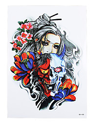 8PCS Body Art Beauty Makeup Tatoo Temporary Skull Pray Flower Picture Design for Women Men Shoulder Tattoo Sticker