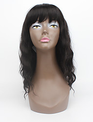 "Hot 16"" Dark Brown Synthetic Wigs For Black Women Heat Resistant Front Lace Wig Machine Made Synthetic Hair Wig"