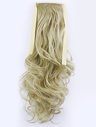 Golden Length 50CM Factory Direct Sale Bind Type Curl Horsetail Hair Ponytail(Color 24)