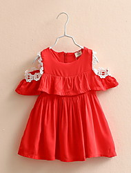 2016 Summer Lovely Soft Girls Skirt Red Colors Girls Skirts For 2-10Y Kids Mother Daughter Clothes