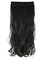 Length Black 60CM High Hemperature Wire Wig Hair Extension Synthetic Hair