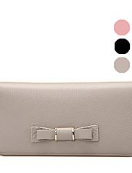 RAFURA Women-Casual-Cowhide-Wallet-Pink / Gray / Black -RJ0566