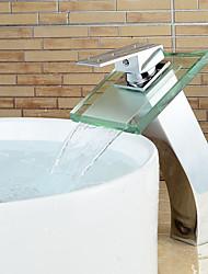 Modern Stylish Bathroom Glass Waterfall Basin Faucet