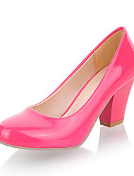 Women's Shoes Leatherette Chunky Heel Heels Heels Wedding / Party & Evening / Dress /  Blue / Pink / Red / White