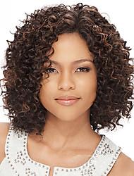 en stock 10-30inch rizado rizado con el frente del cordón del pelo del bebé de las pelucas 100% brasileña virginal del pelo humano peluca
