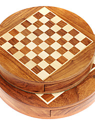 Royal St. Magnetic Wooden Chess Circular Magnetic Chess Suits Pure Wood Pieces Portable With Small (G621)