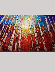 ручная роспись маслом картины современный пейзаж с растянутыми обрамлении