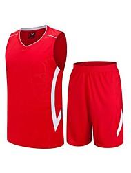 Conjuntos de Roupas/Ternos(Branco / Vermelho / Preto) -Homens-Sem Mangas-Respirável / Secagem Rápida / Drenagem