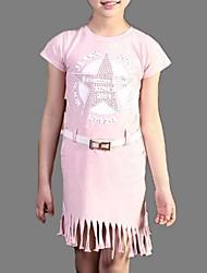 Vestido / Conjunto de Ropa Chica de-Verano-Poliéster-Rosa / Gris