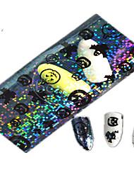1pcs 100 * 4cm transparent Halloween-Kürbis Geist schöne aminal Bild Nagel-Kunst-Funkeln Aufkleber Nageldekoration hw01-04