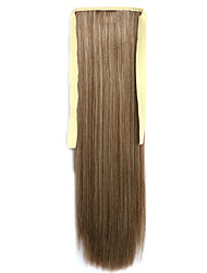 Brown Straight Blending Long Straight Hair Wig Ponytails 10/613
