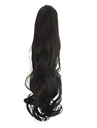 Preto Comprimento 50 centímetros han edição da nova garra do cabelo encaracolado do sexo feminino (cor preta)