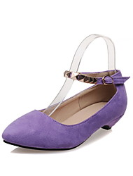 Women's Shoes Low Heel Pointed Toe T-strap Flats Shoes More Colors available