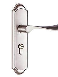Zinc Alloy wire drawing stainless steel modern Wooden door lock(CX50-6015-1)
