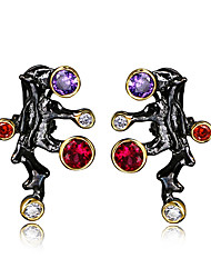 Earring Leaf Stud Earrings Jewelry Women Bohemia Style / Punk Style / Fashion / Vintage Halloween / Wedding / Party / Daily / Casual / N/A
