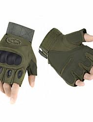de alta qualidade ao ar livre luvas tático semi-dedo shell de fibra de carbono tartaruga antiderrapante luvas de combate militar