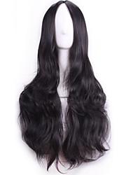 70 cm perruques harajuku de Anime Cosplay sexy femmes du parti longs ondulés cheveux synthétiques Européen American naturel perruque noire