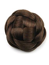 Kinky кудрявый коричневого европы невесты человеческих волос монолитным парики шиньоны g660205 2/30
