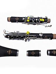 importação suzuki clarinete instrumento clarinete 17 chave pintada a ouro ébano clarinete Clarinete