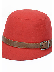 Women Belt Buckle Woolen Hat Bowler Lady Hat