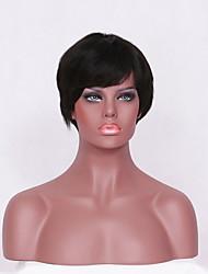Short Cut Bob Human Hair Wigs Straight Bob Style Lace Front  Wig 8inch