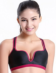 Clothin Women/Ladies Shockproof Racerback Seamless Gym Bra Sports Wireless Bra