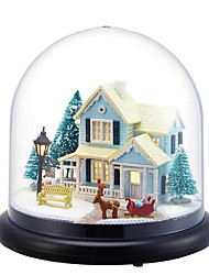 Chi Fun House Diy Hut Nordic Fairy Transparent Cover Villa Model Girlfriend Birthday Gift Music Box Wholesale