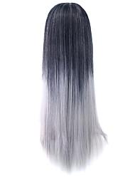 perruque grise fil 70cm haute température cos perruque couleur 1t0906