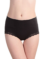 Women's Seamless modal lace waist tummy hip briefs