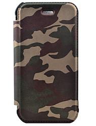 PU + caoutchouc + pc tout en cuir de camouflage inclusif de haute qualité de luxe pour iphone 5 / 5s / se