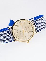 relógio ocasional das senhoras impressa lona genebra marcação borboleta corda bracelete de diamantes relógio de quartzo relógio