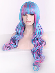 moda ondas de ouro naturais de alta qualidade de cabelo sintético multi-color