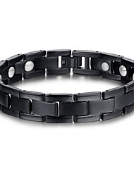 Men's Jewelry Health Care Black Titanium Steel Magnetic Therapy Bracelet Fashion Gift Jewelry