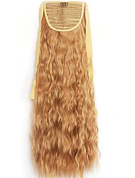 Yellow Deep Wave Lace Wig Corn Hot Ponytails 26