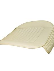 PU Leather Car Seat Cushion 1PCS Ivory