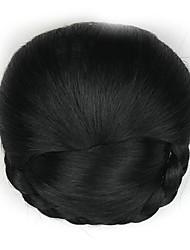 Kinky кудрявый черный моды человеческих волос монолитным парики шиньоны 2