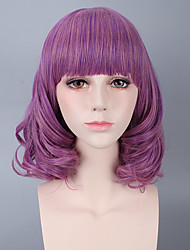 Purple Color Women Cosplay Synthetic Wigs Glueless Fashion Wigs