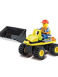 6091 Manufacturers Wholesale Toy Boy Puzzle Blocks To Open Intellectual Engineering Series -Strong Forklifts (10 Boxes)
