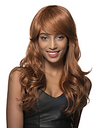 Amazing Long Light Auburn Curly Hair Styles for Women Remy Human Hair Capless Wig
