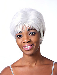 Top Quality Fashion Short Straight White Color Woman's Synthetic Wigs