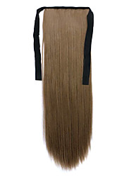 Dark Brown Length 60CM Synthetic Bind Type Long Straight Hair Wig Horsetail(Color 68)