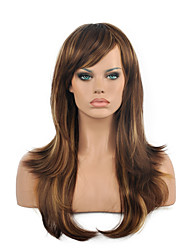 High Quality Long Curly Multi-color Woman's Party Synthetic Wigs