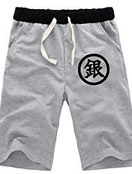 Inspired by Gintama Gintoki Sakata Anime Cosplay Costumes Cosplay Tops/Bottoms Solid Black / Gray Shorts
