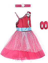 Performance Dresses Children's Performance Spandex / Polyester Sash/Ribbon 2 Pieces Sleeveless High Dress / Headpieces 60cm