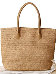 STYLE-CICI    Women-Casual-Straw-Tote-White / Beige / Green / Brown