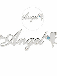 Серебро-Металл / Стразы-унисекс-Персональный подарок-Ожерелья-