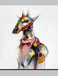 mão grande pintura a óleo lona pintada abstrato moderno veados imagens de animais, com quadro esticado pronto para pendurar