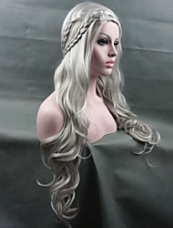 Cheap Women Synthetic Wigs Cosplay Game of Thrones Daenerys Inspired Hair Silver Wig New Arrival